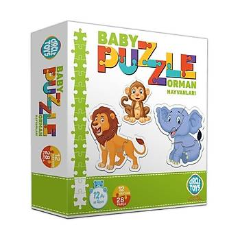 Circle Toys Baby Puzzle Orman Hayvanlarý 12 Hayvan