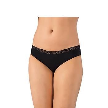 5 Adet Lüx Drm Lale Bayan Dantelli Likralý Bikini Külot Slip 1086