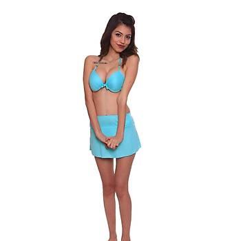 Bayan Hafif Destekli Etekli Bikini Takým Etekli Bikini Mayo