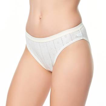 6 lý Paket Tutku Kadýn Jakarlý Bikini Külot Standart M Beden