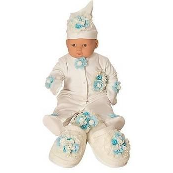 Mecit Bebek Tulum Lohusa Terlik Taç Seti Bebek Mevlüt Seti 205