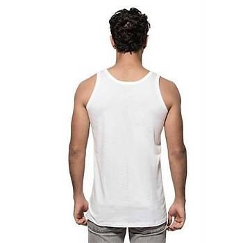 Özkan Erkek Yüzde Yüz Pamuklu Tekli Paket Penye Atlet Beyaz 0050