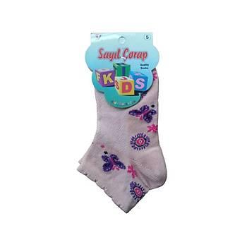 12 Çift Sayýl Kýz Çocuk Spor Çorap Kýsa Patik Çorap