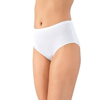 3 lü Paket Lüx Drm Bayan Bambu Yüksek Bel Bikini Külot Slip 3800