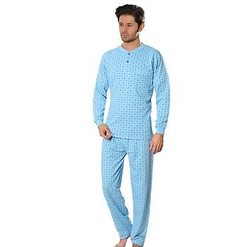 Aysu 2060 Erkek Uzun Kol Pijama Takýmý Penye Pijama Takýmý