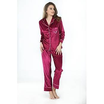 Sistina 1643 Bayan Kadife Pijama Takýmý