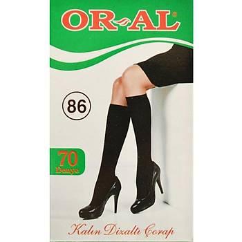 12 Çift Oral Bayan Dizaltý Çorap Kalýn 70 Denye Yeþil Kutu