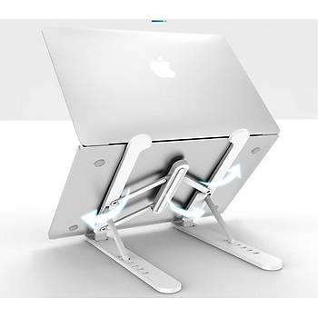 Plastik Yükseklik Ayarlý Laptop Standý Siyah