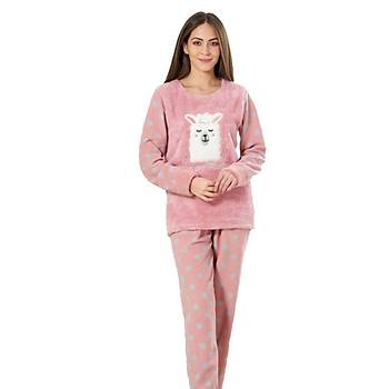 Estiva 19346 Puanlý Polar Bayan Pijama Takýmý