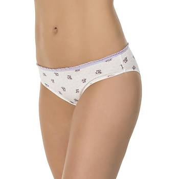 3 lü Paket Kom Lavender Bayan Bikini Külot
