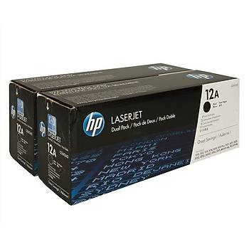 HP Q2612AD Toner Kartuþ (Ýkili) 12A