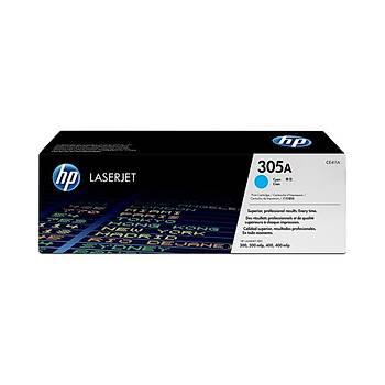 HP CE411A Mavi Toner Kartuþ (305A)