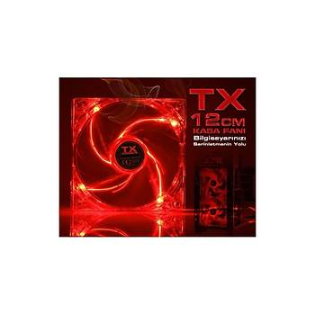 TX TXCCF12RD Kýrmýzý 12cm Sessiz Kasa Faný