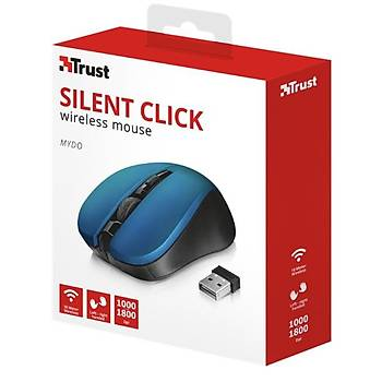 Trust 21870 Mydo Silent Kablosuz Mouse - Mavi