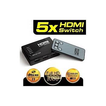 Dark DK-HD-SW4X1 Full HD 5 /1 Kumanda HDMI Switc
