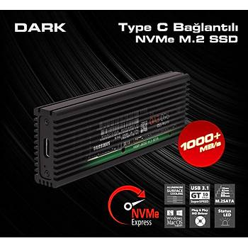 Dark DK-AC-DSEM4 Type C - M.2 NVMe Disk Kutusu