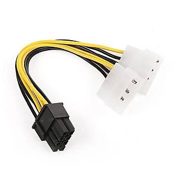 Dark DK-CB-P104 2x Molex 4Pin - 6+2Pin PCI-E Dönüþ