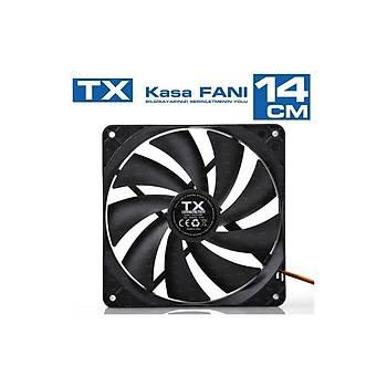 TX TXCCF14BK 14cm Sessiz Kasa Faný