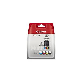 Canon Cli-551 C/M/Y/BK Dört Renkli Çoklu Paket