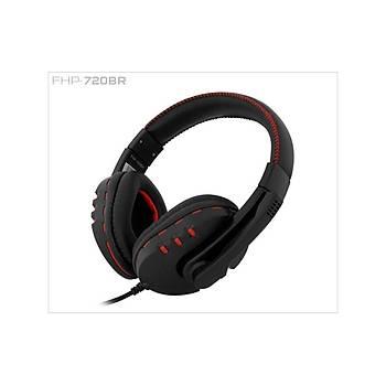 Frisby FHP-720BR Mikrofonlu Kulaklýk Siyah