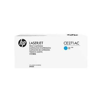 HP CE271AC Sözleþmeli Mavi Renkli Toner 650A