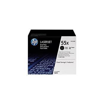 HP CE255XD 2'li Siyah Toner Kartuþ (55X)