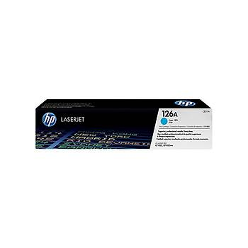 HP CE311A Mavi Toner Kartuþ (126A)