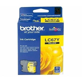 Brother LC67Y Sarý Kartuþ (325 SAYFA)