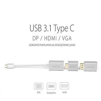 Dark DK-AC-U31X6 USB Type-C to Display-HDMI-VGA