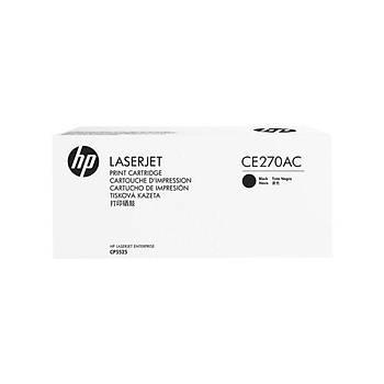 HP CE270AC Sözleþmeli Siyah Toner Kartuþ (650A)