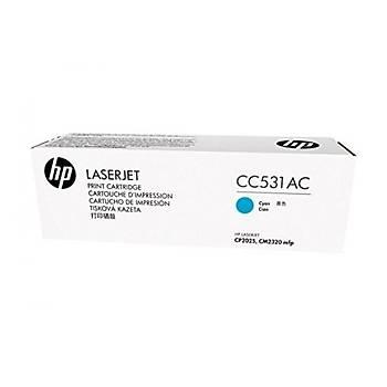HP CC531AC Sözleþmeli Mavi Renkli Toner 304A