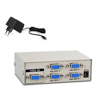 S-Link MSV-1415 4 VGA 150Mhz Monitör Çoklayýcý