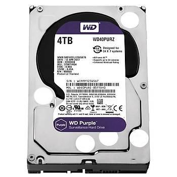 WD 4TB Purple 3.5'' 64MB Sata 6Gb/s 7/24 WD40PURZ