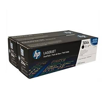 HP CC530AD 2'li Siyah Toner Kartuþ (304A)