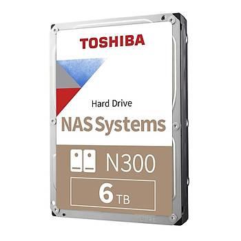 Toshiba 6TB N300 7200 128MB 7/24 Nas HDWG160UZSVA