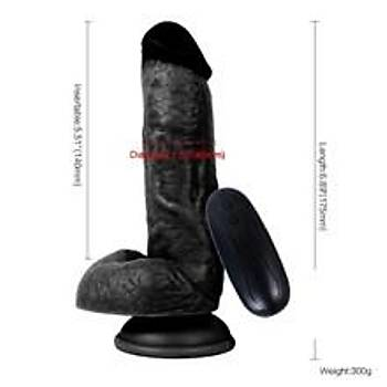 10 Fonksiyonlu Titreþimli Siyah Penis Süper Realistik 17.5 CM