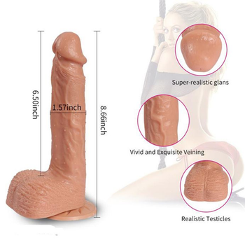 USB Þarjlý Gidip Gelmeli Gerçekçi Vibratör Realistik Kalýn Penis Titreþimli 20 Cm