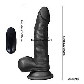 10 Fonksiyonlu Titreþimli Zenci Realistik Penis 17 Cm