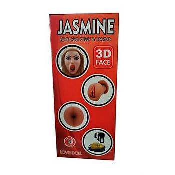 Jasmine Realistik Vajinalý Anüslü Titreþimli Þiþme Bebek