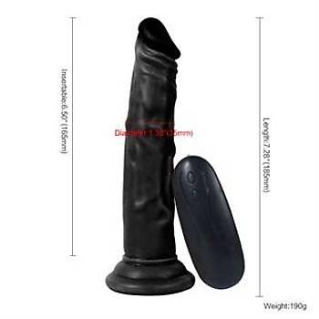10 Fonksiyonlu Titreþimli Zenci Anal Realistik Penis 18.5cm