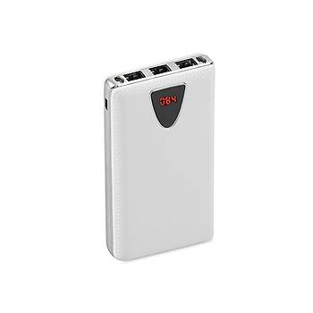S-link IP-G80 8000mah Powerbank Beyaz Taþýnabilir Pil Þarj Cihazý