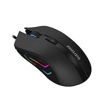 Philips SPK9313 Usb Siyah 800-1200-1600-2400dpi Gaming Mouse 7 Farklý Led Iþýk