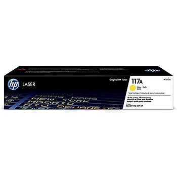HP 117A Yellow Sarý 700 Sayfa Toner W2072A