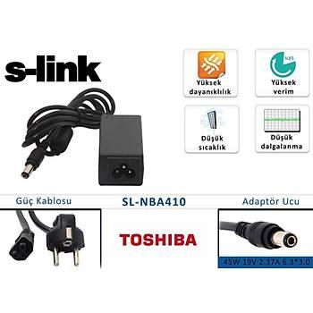 S-link sl-nba410 45W 19V 2.37A 6.3-3.0 Toshýba Notebook Adaptörü