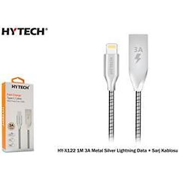 Hytech HY-X385 2.4A Lightning 3m Gri-Siyah Þarj Kablosu