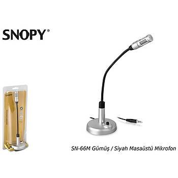 Snopy SN-66M Gümüþ - Siyah Masaüstü Mikrofon