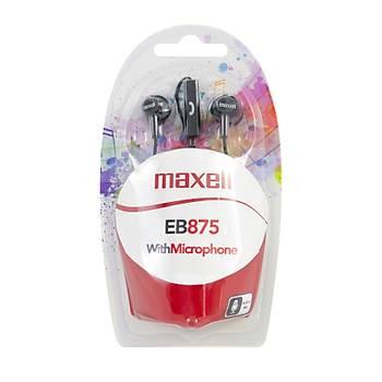 Maxell EB-875 Siyah Kulakiçi Mikrofonlu Kulaklýk Tek Jaklý