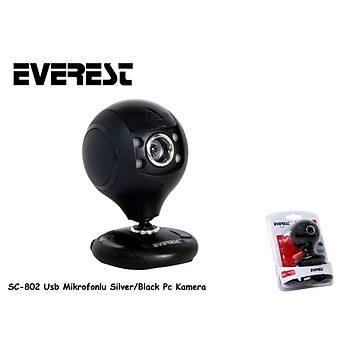 Everest SC-802 Siyah Usb Mikrofonlu Webcam