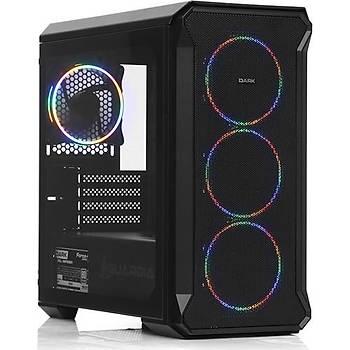 Dark Guardian Mini 700W 80+ 4x12cm Fixed RGB LED Fanlý, Full Cam Yan ve Mesh Ön Panel