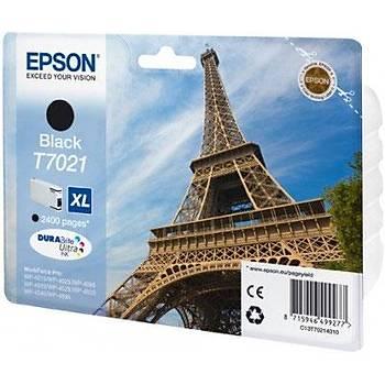 Epson T7021 Black Siyah 2.400 Sayfa Mürekkep Kartuþ T70214010